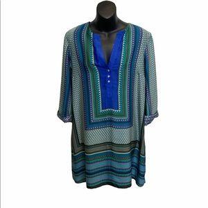 Zara long sleeve multi colored dress